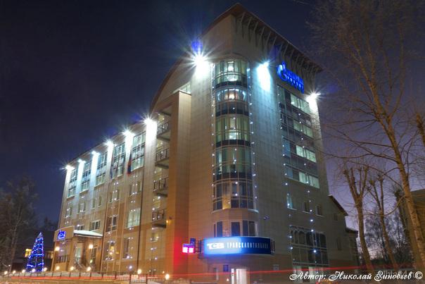 Подсветка Газпром Инвест Запад. Улицы города Ухта