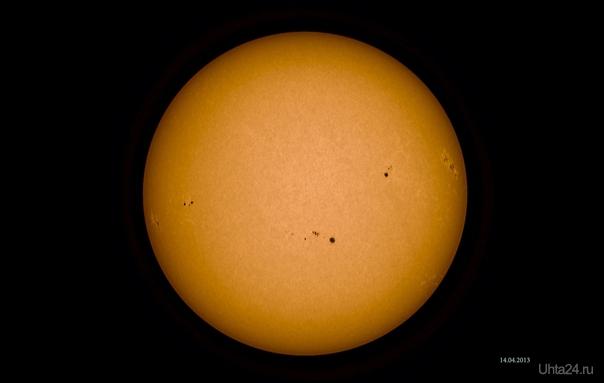 Солнце 14 апреля.  Ухта