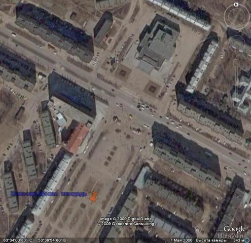 Вид со спутника Улицы города Ухта