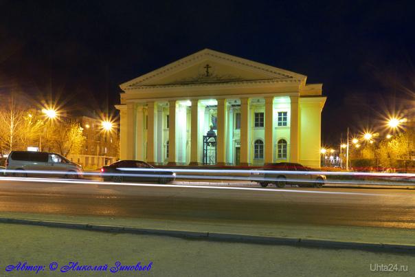 Вечерний Храм Стефана Великопермского (бывший ЦДК Нефтяников).  Ухта
