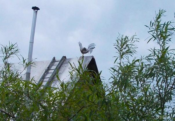 Петух на крыше  Ухта