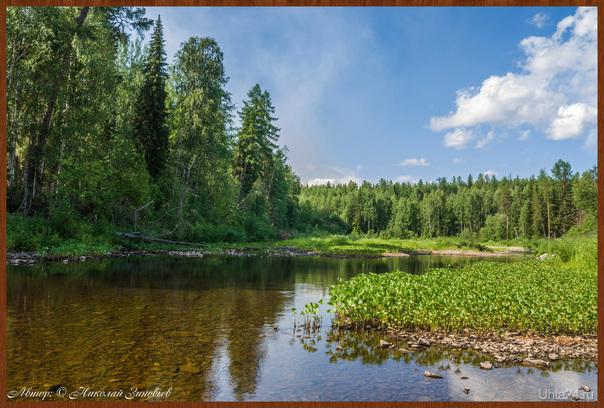 На реке Чуть (съёмка с другого ракурса).  Ухта