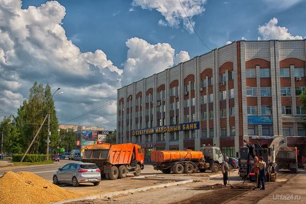 Для истории. Ремонт тротуаров на пр. Ленина, июль 2013  Ухта