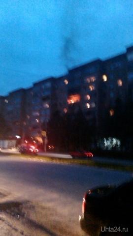 Пожар на Ленина 28  Ухта
