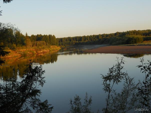 Вычегда утром Природа Ухты и Коми Ухта