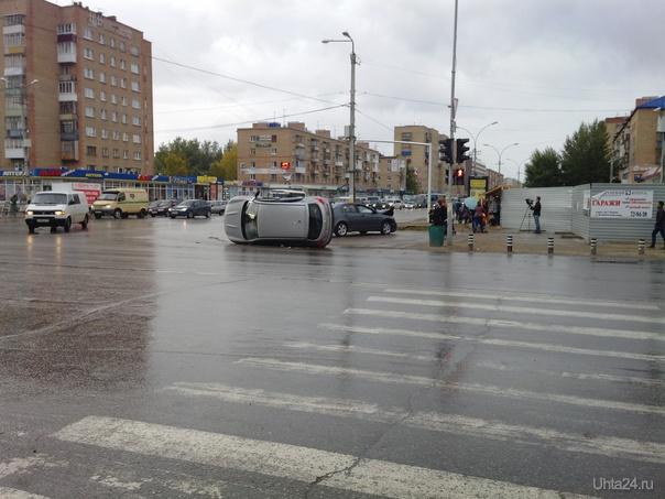 Авария на перекрёстке Ленина-Космонавтов 17.09.2013  Ухта