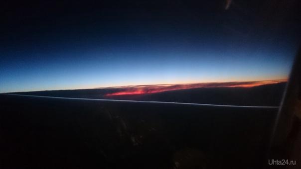 Рассвет в небе  Ухта
