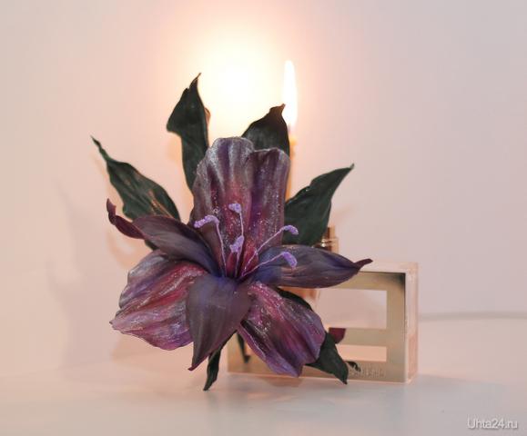 Фантазийная орхидея (материал-натуральная кожа) Творчество, хобби Ухта