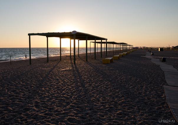 Опустевший пляж  Ухта