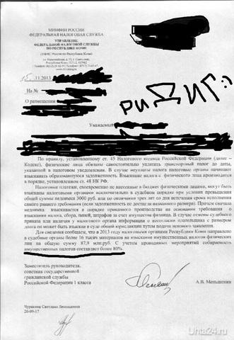 Ответ Налоговой на точку зрения Романа Ридика по моему запросу.)) Разное Ухта