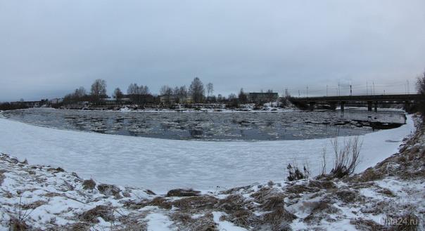 Шуга на реке. Ссылка на панораму в комментариях Природа Ухты и Коми Ухта