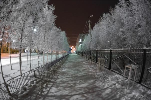 Иней. Улицы города Ухта