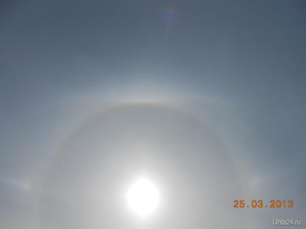 Ходили на лыжную прогулку и увидели три  радуги и три солнца(ВЕСНА). Природа Ухты и Коми Ухта