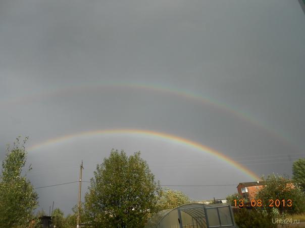 лето- после дождя две радуги Природа Ухты и Коми Ухта