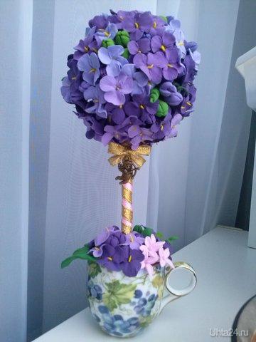 """топиарий или Дерево счастья с подвеской """"Амур"""",ручная работа,высота 23 см. японская полимерная глина. Группа http://vk.com/irinakozhevina Творчество, хобби Ухта"""