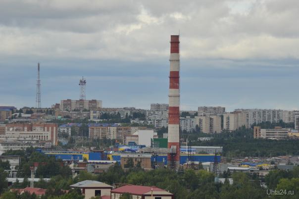 Вид с горочки Улицы города Ухта