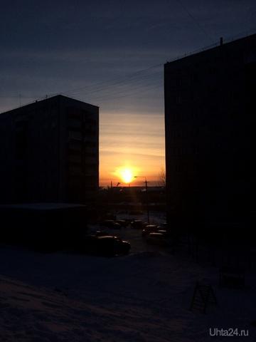 Солнечное утро на ул.Машиностроителей Улицы города Ухта