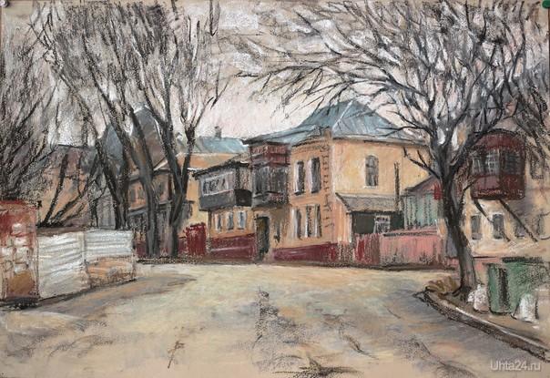 Кисловодск, б. масл. пастель, март 2014 г.  Ухта