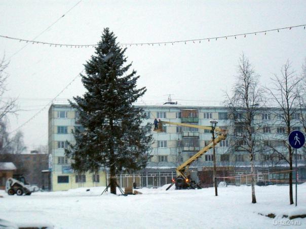 Комсомольская. Подготовка к Новому 2010 году. Мероприятия Ухта