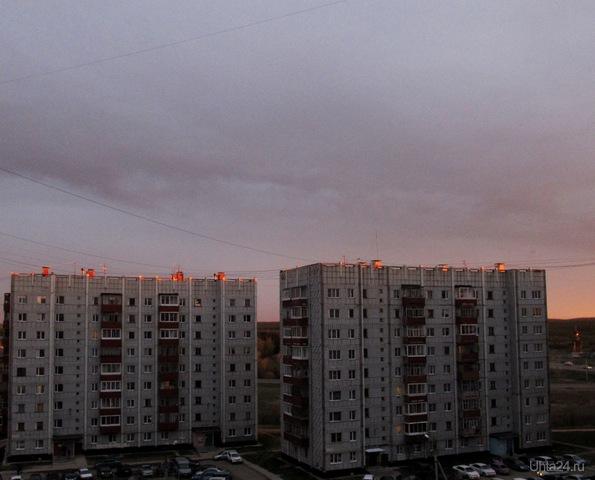 вечер 22 мая Улицы города Ухта