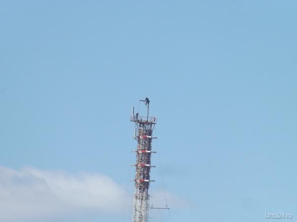 Работы на телевышке Улицы города Ухта