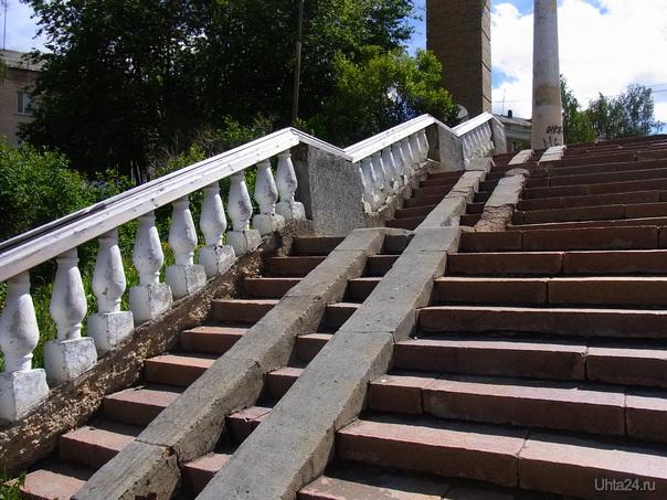 Парк КиО, пандус. Июнь 2014 Улицы города Ухта