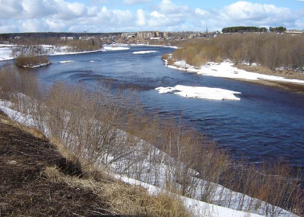 река Ухта, весна Природа Ухты и Коми Ухта