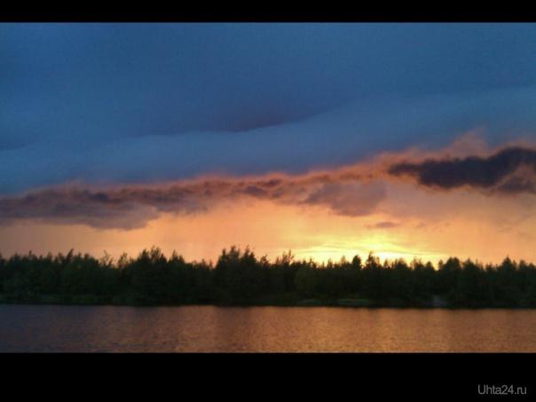 Над  озером Природа Ухты и Коми Ухта