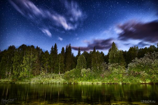 Звёздное небо над рекой Тобысь. Природа Ухты и Коми Ухта