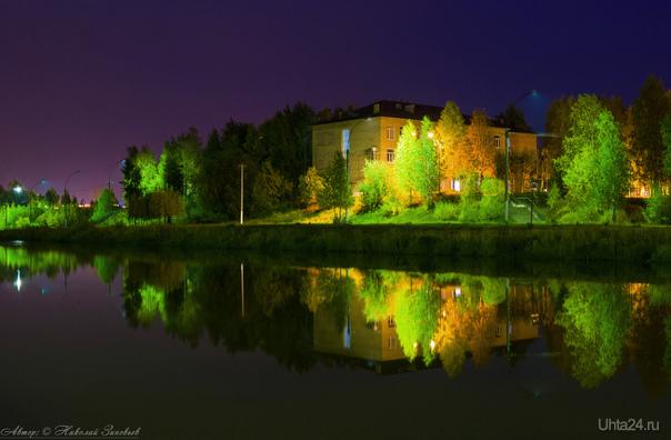 Ночь в осеннем парке (немного подкорректировал).  Ухта