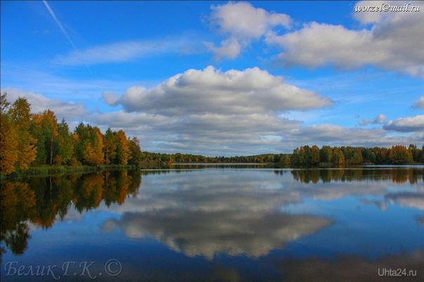 озеро за Сосногорском.  Природа Ухты и Коми Ухта