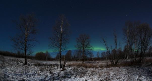 Северное сияние 8 ноября. Природа Ухты и Коми Ухта