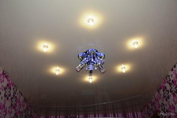 Светодиодные лампы-свечки Ecola в нятяжном потолке Ухта LOFT УХТА, РЕМОНТ КВАРТИР, ДОМОВ УХТА. Ухта