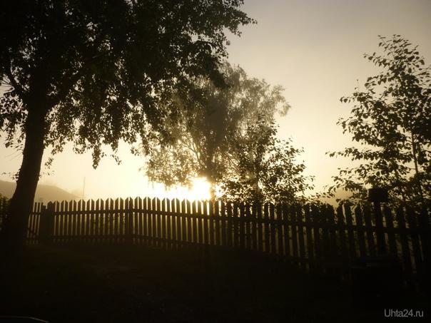 Туманный рассвет... Природа Ухты и Коми Ухта