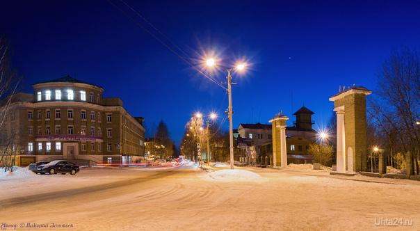 Свежая вечерняя панорамка ул. Первомайская и снова небо украшает вечерняя Венера :)  Ухта