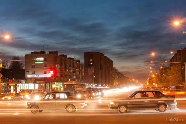 перекресток Ленина-Космонавтов Улицы города Ухта