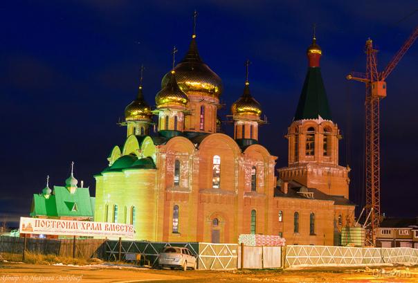 Будущий храм во имя Новомучеников и Исповедников Российских в земле Коми просиявших со всеми главками.  Ухта
