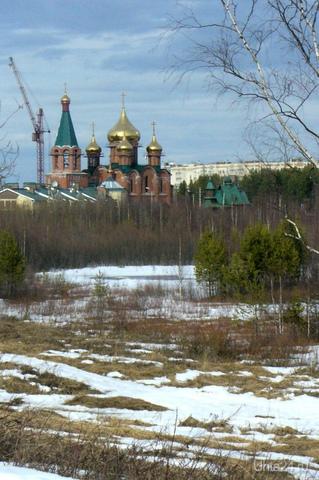 Вид на храм   Ухта