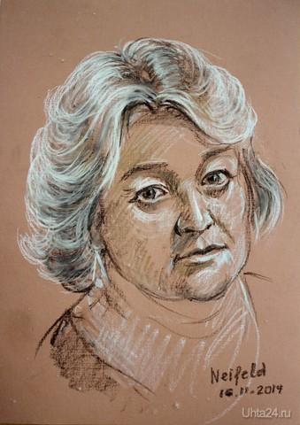 Портрет Натальи, б.масл.пастель, 2014 г.  Ухта