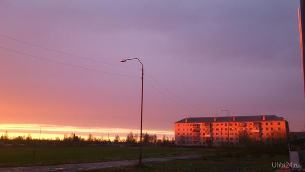 Закат на Яреге  Ухта