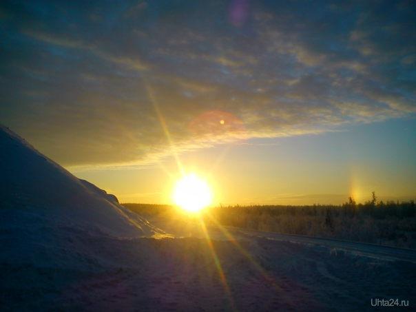 ...и зимой бывает радуга Природа Ухты и Коми Ухта