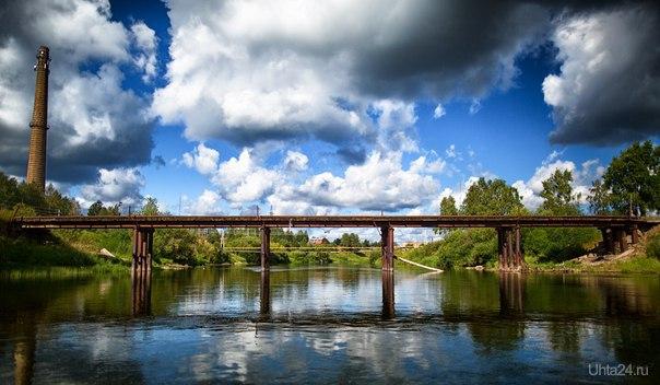 Мост через р.Ухту в п.Водный. Природа Ухты и Коми Ухта