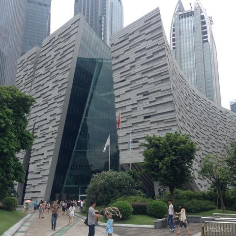 здание библиотеки в Гуанчжоу  Ухта