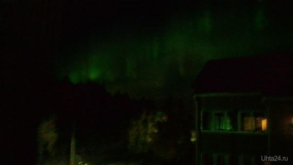 14.09.15 20:48 Северное сияние. Вид из Сангородка, Павлова, 9  Ухта