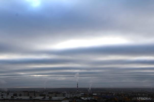 Небо в полосочку (было в минувший вторник) Природа Ухты и Коми Ухта