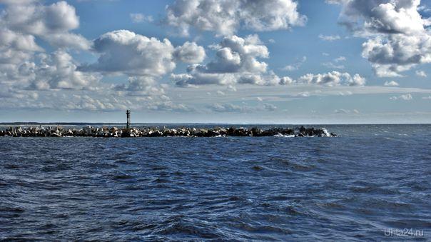 САМАЯ западная точка России. Южный мол в Балтийске  Ухта