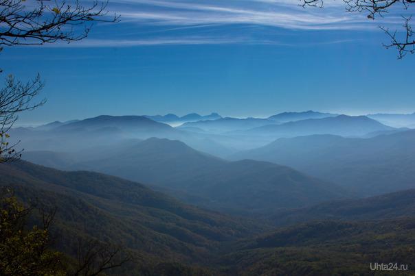 Утро. Вид с Сарай-горы. Туапсинский район.  Ухта