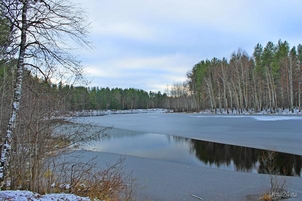 Хмурое утро на озере. Максаковка. Природа Ухты и Коми Ухта