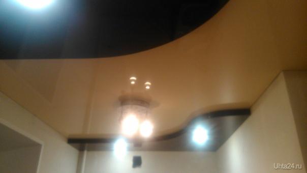 Двухуровневый натяжной потолок. КВАДРАТНЫЙ МЕТР, НАТЯЖНЫЕ ПОТОЛКИ  Ухта
