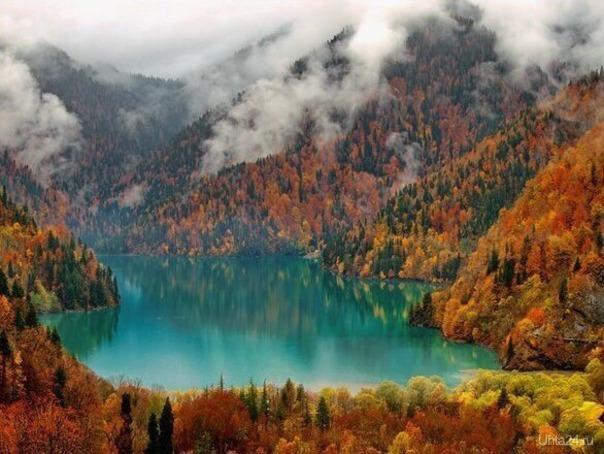 Озеро Рица конец ноября 2015г. Мир глазами ухтинцев Ухта